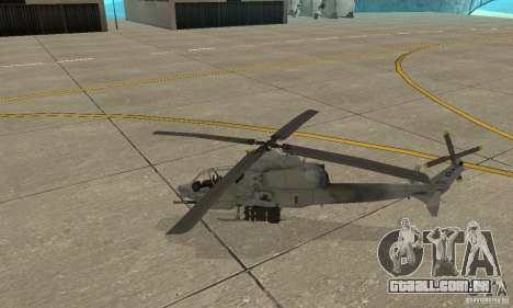 Hunter - AH-1Z Cobra para GTA San Andreas esquerda vista