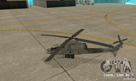 Hunter - AH-1Z Cobra para GTA San Andreas esquerda vista