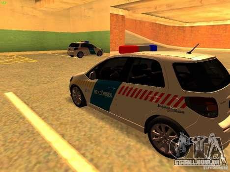 Suzuki SX-4 Hungary Police para GTA San Andreas traseira esquerda vista
