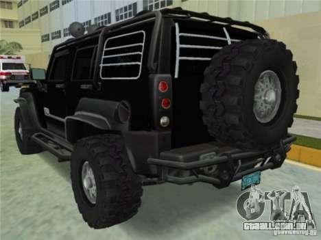 Hummer H3 SUV FBI para GTA Vice City deixou vista