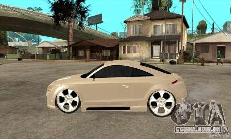 Audi TT Quattro 2007 para GTA San Andreas esquerda vista
