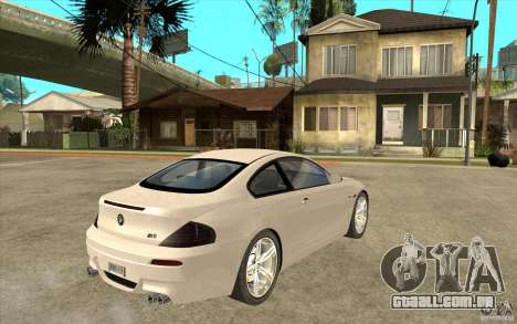 BMW M6 para GTA San Andreas vista direita