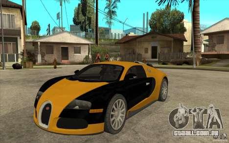Bugatti Veyron v1.0 para GTA San Andreas