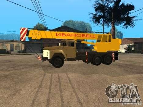 ZIL 133 para GTA San Andreas traseira esquerda vista