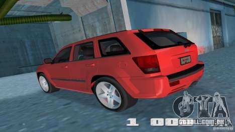 Jeep Grand Cherokee para GTA Vice City vista direita