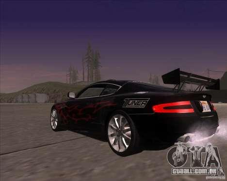 Aston Martin DB9 tunable para vista lateral GTA San Andreas