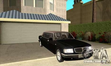 GAZ 3110 Sedan para GTA San Andreas vista traseira