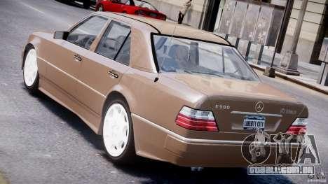 Mercedes-Benz W124 E500 1995 para GTA 4 traseira esquerda vista