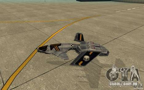 Falcão ar comando e Conquer 3 para GTA San Andreas traseira esquerda vista