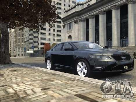 Ford Taurus FBI 2012 para GTA 4 vista lateral