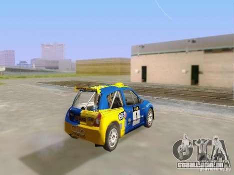 Renault Clio Super 1600 para GTA San Andreas esquerda vista