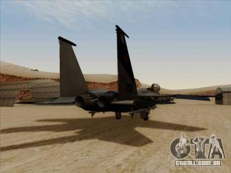 F-15C para GTA San Andreas esquerda vista