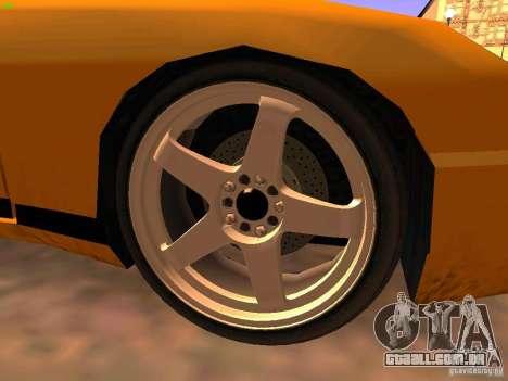 New Euros para GTA San Andreas traseira esquerda vista