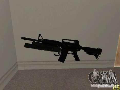 M4 MOD v5 para GTA San Andreas