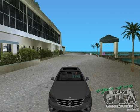 Mercedess Benz CL 65 AMG para GTA Vice City vista traseira esquerda