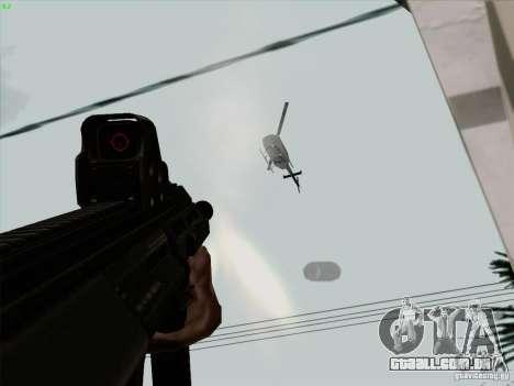 AUG-A3 Special Ops Style para GTA San Andreas sexta tela