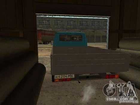 GAZ 33021 para GTA San Andreas traseira esquerda vista