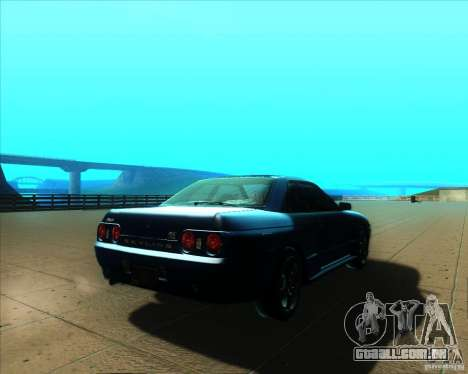 Nissan Skyline GT-R R32 1993 Tunable para vista lateral GTA San Andreas