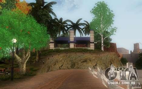 New Country Villa para GTA San Andreas nono tela