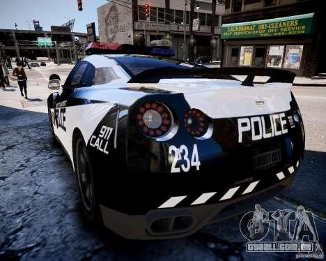 Nissan Spec GT-R Enforcer para GTA 4 traseira esquerda vista