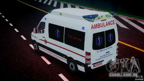 Mercedes-Benz Sprinter Iranian Ambulance [ELS] para GTA 4 interior