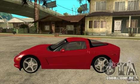 Chevrolet Corvette C6 Z51 - Stock para GTA San Andreas esquerda vista