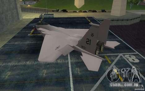 F-15 para GTA San Andreas esquerda vista