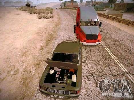 GÁS-31025 para GTA San Andreas vista traseira