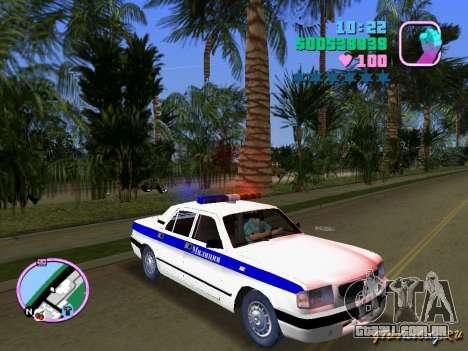 Volga Gaz 3110 polícia para GTA Vice City