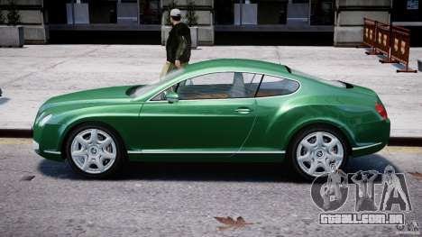 Bentley Continental GT para GTA 4 traseira esquerda vista