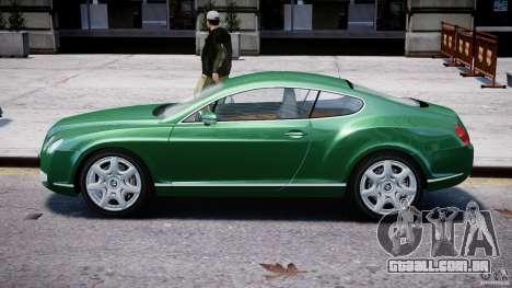 Bentley Continental GT para GTA 4 traseira esquerda vista