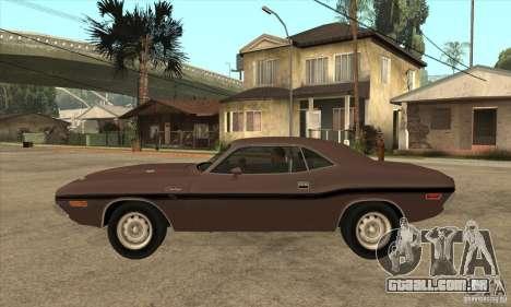 Dodge Challenger R/T Hemi 426 para GTA San Andreas esquerda vista