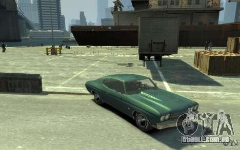 Chevrolet Chevelle SS 454 v2 para GTA 4 vista de volta