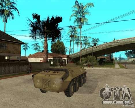 O APC da s. l. a. t. k. e. R para GTA San Andreas traseira esquerda vista