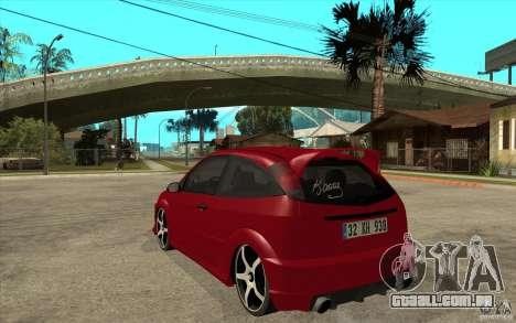 Ford Focus Coupe Tuning para GTA San Andreas traseira esquerda vista