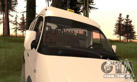 Gazela 32213 Novosibirsk Minibus para GTA San Andreas vista direita