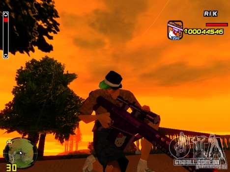Hello Kitty weapon para GTA San Andreas quinto tela