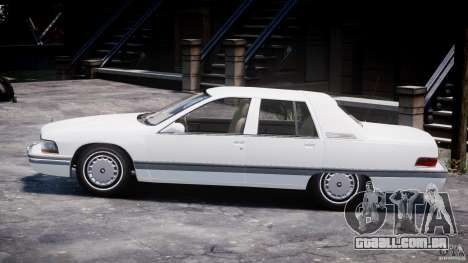 Buick Roadmaster Sedan 1996 v1.0 para GTA 4 traseira esquerda vista