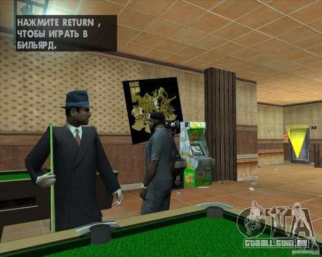 Salierys Bar para GTA San Andreas por diante tela