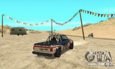 Nevada v1.0 FlatOut 2 para GTA San Andreas esquerda vista