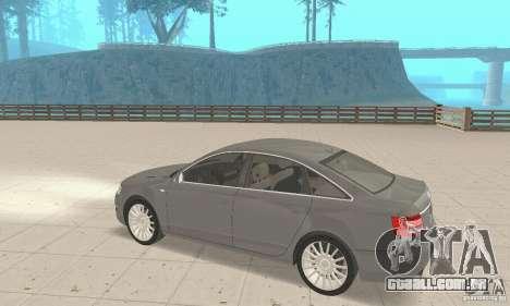 Audi A6 3.0 TDI quattro 2004 para GTA San Andreas vista interior