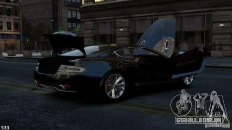 Aston Martin Virage 2012 v1.0 para GTA 4 vista de volta