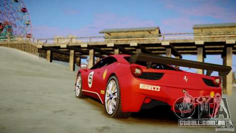 Ferrari 458 Challenge 2011 para GTA 4 esquerda vista