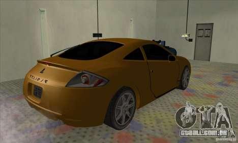 Mitsubishi Eclipse GT para GTA San Andreas esquerda vista