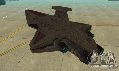 Republic Attack Cruiser Venator class v3 para GTA San Andreas traseira esquerda vista