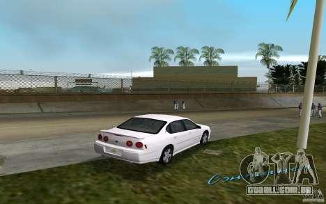Chevrolet Impala SS 2003 para GTA Vice City vista direita