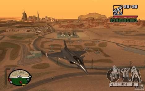 Dassault Rafale M para GTA San Andreas traseira esquerda vista