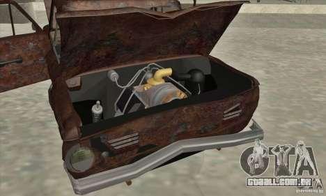 ZAZ 968 abandonado v. 2 para GTA San Andreas vista superior