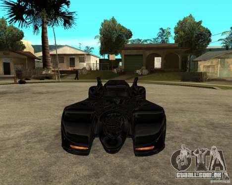 Batmobile para GTA San Andreas vista traseira