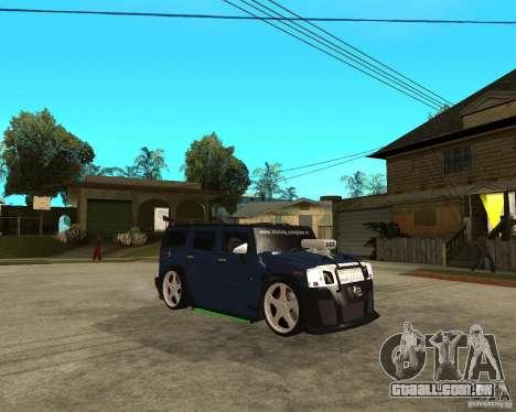 AMG H2 HUMMER Jvt HARD exclusive TUNING para GTA San Andreas vista direita